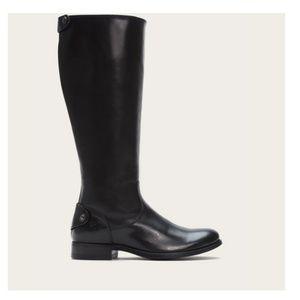 Frye Size 11 Melissa Black Leather Boots